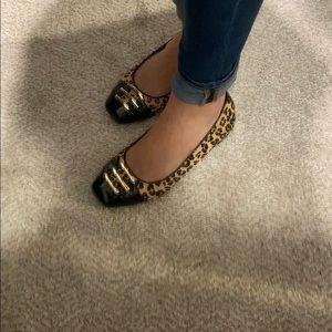 Leopard Flats, size 8.5